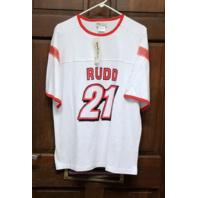 Team Caliber White Ricky Rudd #21 T-Shirt Men's Size L Large NWT