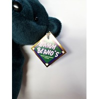 Salvino's Bamm Beano's Cal Ripken #8 Dark Green Beanie Plush Toy Bear