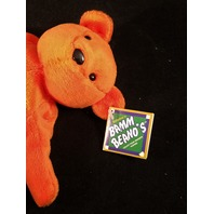 Salvino's Bamm Beano's Cal Ripken #8 Denver July 98 Orange Beanie Plush Toy Bear