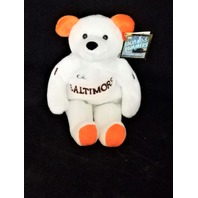 Salvinos Bammers Cal Ripken #8 White 7th Inning Stretch Beanie Plush Toy Bear