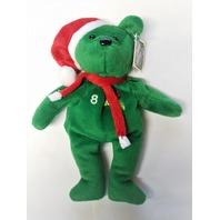 Salvino's Bamm Beano's Cal Ripken Jr #8 Green Christmas Beanie Plush Bear