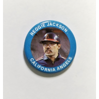 Vintage 1984 FUN FOODS #16 Reggie Jackson California Angels Button Pin