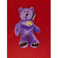 1998 Limited Treasures Randy Moss #84 Purple Beanie Plush Bear #19751 Vikings
