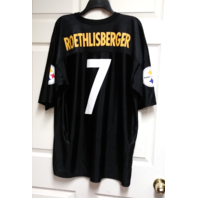 NFL Team Apparel Pittsburgh Steelers Ben Roethlisberger 7 Replica Jersey Size XL