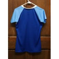 Majestic Kansas City Royals Blue V-Neck Graphic T-Shirt Women's Size M