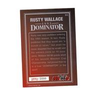 RUSTY WALLACE Wheels 1993 Dominator Jumbo Bonus Card D2 2772/3000 NASCAR Racing