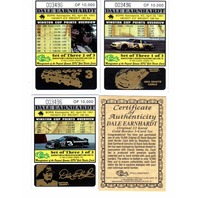 1995 Classic Dale Earnhardt 23K Gold Border 3 Card Set With COA /10,000