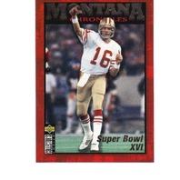 1995 Upper Deck Collector's Choice JOE MONTANA Chronicles NFL Football