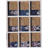 1995 Donruss Studio Gold Credit Cards Complete 50 Card Set MLB Ken Griffey Jr