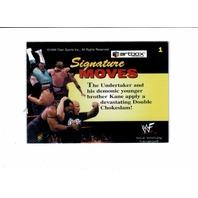 1999 ARTBOX WWF MOTIONCARDZ Complete 40 Card Set Wrestling Undertaker Kane