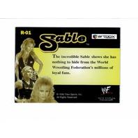 1999 ARTBOX WWF Motioncardz Attitudes 4 Card Set & Sable Revealed #R1 Card