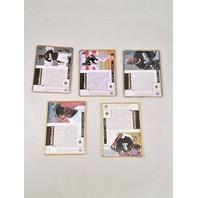 1995 Upper Deck Michael Jordan Tribute Embossed Metal 5 Card Set Baseball