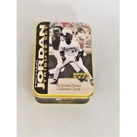 1995 Upper Deck Michael Jordan Tribute Embossed Metal 5 Card Set In Tin Baseball