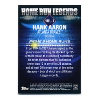 2012 TOPPS PRIME NINE HOME RUN LEGENDS Complete Set Aaron Ruth Mays Mantle