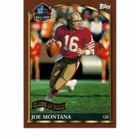 2000 Topps Hall Of Fame Class Of 2000 Complete Set NFL Joe Montana Howie Long