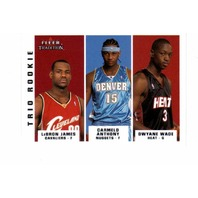 2003-04 Fleer Tradition Trio Rookie 10 Card Set 291-300 LeBron James Dwyane Wade