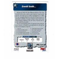 1993 Pro Set Power Emmitt Smith Commemorative 10 Card Set Dallas Cowboys NFL