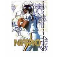 1995 Collector's Edge Nitro Redemption Complete 25 Card Set NFL Warren Moon