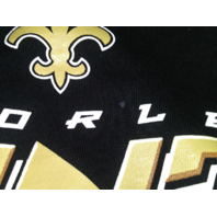 NFL Team Apparel Black New Orleans Saints Graphic T-Shirt Size L Football