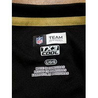 NFL Team Apparel TX3 Cool Black New Orleans Saints T-Shirt Size L Football
