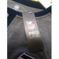 NFL Pro Line Seattle Seahawks Blue Gray Long Sleeve Lincoln Henley Shirt Sz 2XL