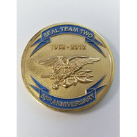 SEAL Team 2/Two 50th Anniversary Challenge Coin - Awarded - Serial # 0824