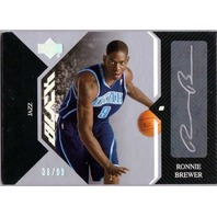 RONNIE BREWER 2006-07 06/07 Upper Deck UD Black Rookie Autograph Auto RC 36/99