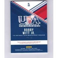 2018 Bobby Witt Jr. Panini USA Baseball Silhouettes Auto /16