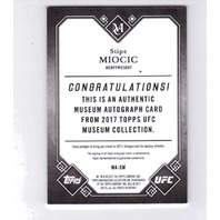 2017 Stipe Miocic Topps Museum Collection Auto /25
