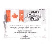2011 Leaf MMA Metal National Pride Autographs #NPRM1 Rory MacDonald