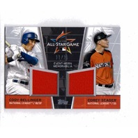 Cody Bellinger/ Corey Seager 2017 Topps Update Series All-Star Dual Relic /25