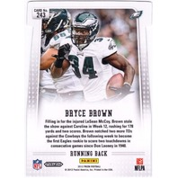 BRYCE BROWN 2012 Panini Prizm Red #243 Rookie RC Die Cut SP Refractor Eagles