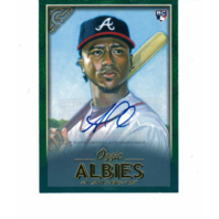 2018 Topps Gallery Green Border RC Ozzie Albies Certified Auto 37/99