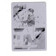 Freddie Freeman 2019 Donruss Printing Plate #175 Black 1/1 Atlanta Braves