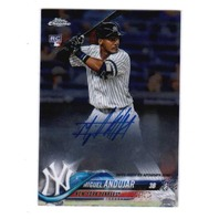 2018 Miguel Andujar Topps Chrome Certified Autograph Issue