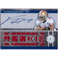 KENDALL HUNTER 2011 Panini Totally Certified Rookie Freshman Fabric Auto RC/499