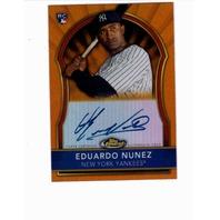 2011 Eduardo Nunez Topps Finest Certified Autograph Issue