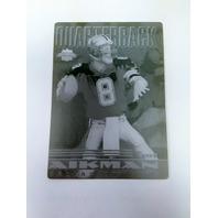 1997 Score Board Playbook Card #2 Troy Aikman Printing Plate Dallas Cowboys 1/1