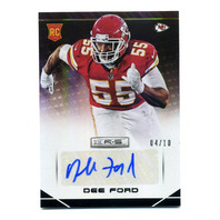 2014 Rookies and Stars Rookie Autographs Longevity Black #129 Dee Ford /10 RC