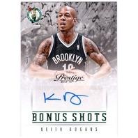 KEITH BOGANS 2013-14 13/14 Prestige Bonus Shots Green Autograph 1/5 Auto