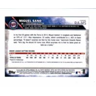 Miguel Sano 2016 Topps Chrome Rookie Autograph #RAMS auto RC Minnesota Twins
