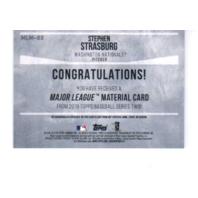 Stephen Strasburg 2019 Topps Series 2 Major League Materials Gold #MLMSS 19/50  (x)