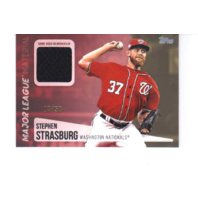 Stephen Strasburg 2019 Topps Series 2 Major League Materials Gold #MLMSS 19/50  (x)