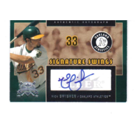 Nick Swisher 2005 National Pastime Signature Swings Silver #NS Autograph auto