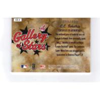 CC Sabathia 2005 Diamond Kings Gallery of Stars Signature Jersey #GS4 auto /100