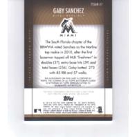 Gaby Sanchez 2012 Topps Triple Threads Unity Relic Autograph Gold UAR47 auto /25