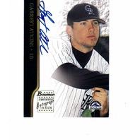 Garrett Atkins 2002 Bowman Autograph #BAGA Colorado Rockies auto signed