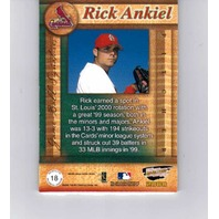 Rick Ankiel 2000 Pacific Revolution MLB Game Ball Signatures #18 Autograph Auto