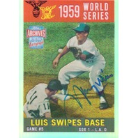 Maury Wills 2001 Topps Archives Reserve Rookie Reprint Autographs #ARA18 1959 WS