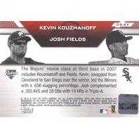 2007 Topps Co-Signers Dual Autographs #KF Kevin Kouzmanoff/Josh Fields B